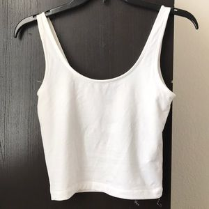 Forever 21 White Knit Top Cropped Tank Top